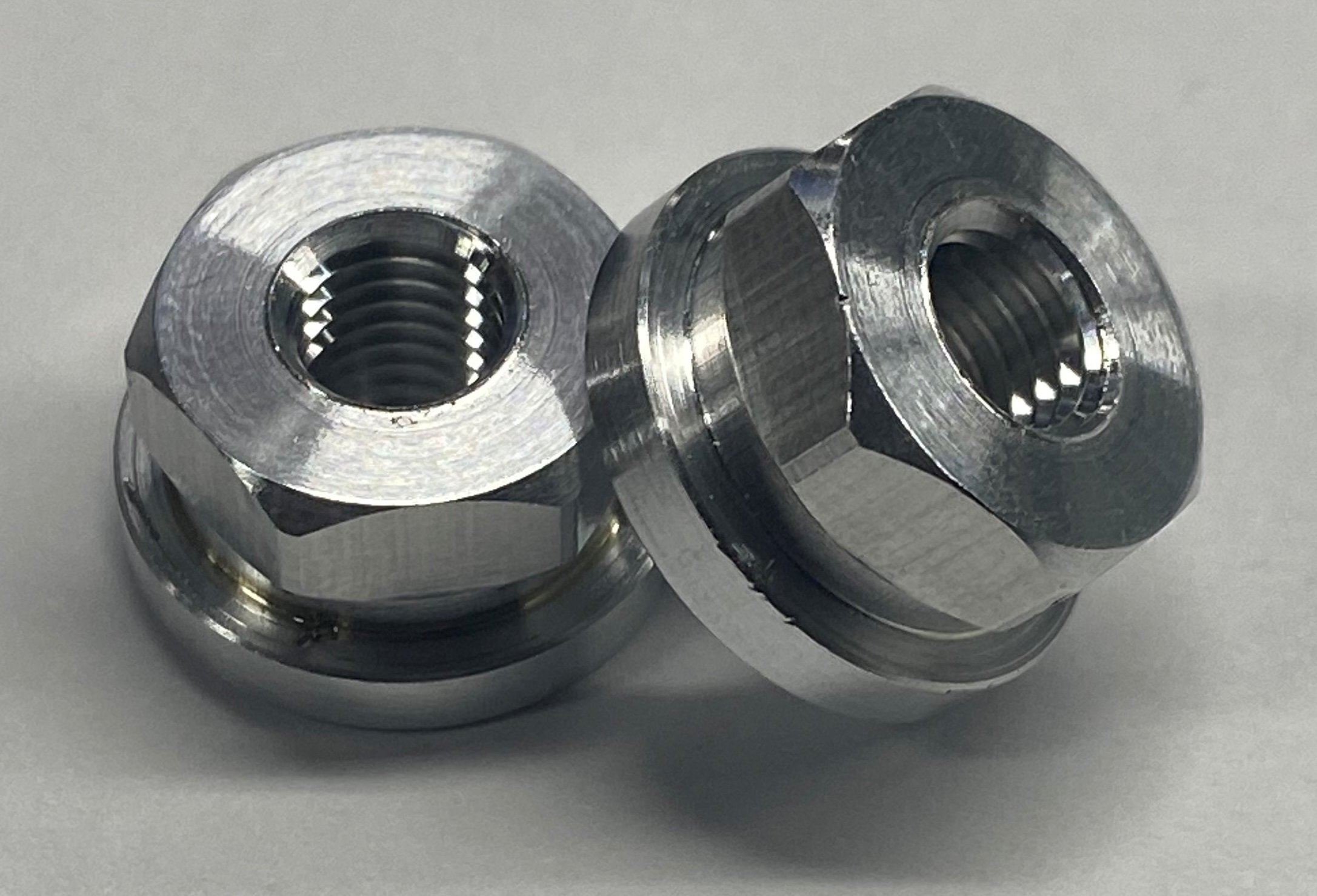 Aluminum 1/2 Hex- 1/4-28 Wheel Nuts